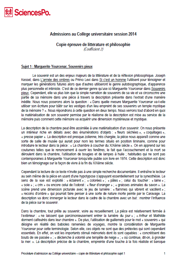 exemple lettre de motivation sciences po